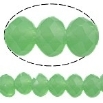 10 x Briolette kristal kraal 8x6 mm gat 1,5mm  opal green