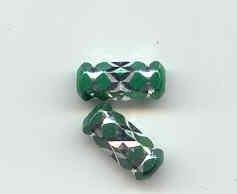 Prachtige groene aluminium kraal 15 x 6mm