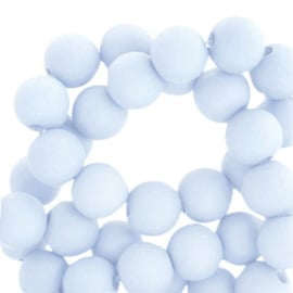 50 x 4 mm acryl kralen Blissful blue