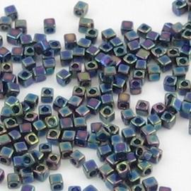 10 gram  Kubus 1,8 mm Miyuki Green/Blue/Violet Metallic Rainbow