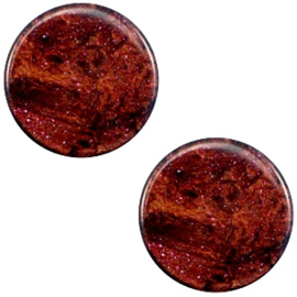 1 x 7 mm platte cabochon Polaris Elements Stardust Port royale red