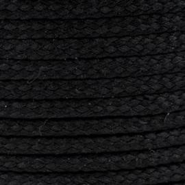 1 meter sieradenkoord c.a. 5 x 3mm kleur Black