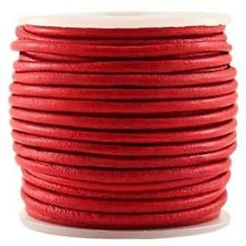 50 cm DQ Leer 3 mm Carnelian Red