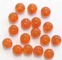 10 Stuks Glaskraal rondel transparant oranje gemeleerd 7 mm