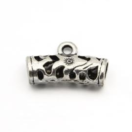 3 x Prachtige bali style Tibetaans zilveren bails 21 x 13 x 7mm Gat: 4mm oogje 2mm
