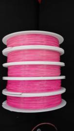 Per rijgdraad met coating roze 0,38 mm x 100 meter