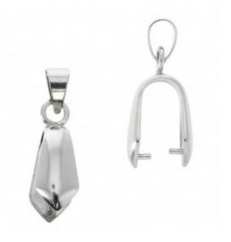 1 x  Platinum hanger, verbinder, bails 19 x 4mm, gat: 4,6mm