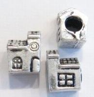 Per stuk Metalen European-style kraal, Huis 12 mm