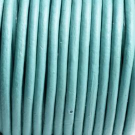 50 cm  DQ Leer rond 2 mm blauw