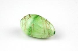 10x Groene acrylkraal ovaal/driehoekig, 28x15mm