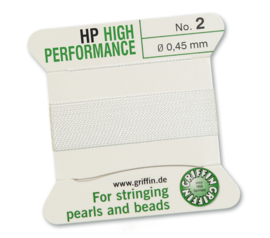 High performance Griffin met naald  No: 2 Ø 0,45mm wit