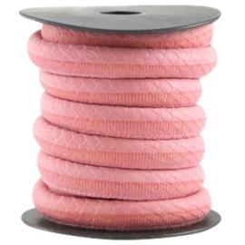 50cm Dreamz gestikt imitatieleer 10mm Paparacha roze
