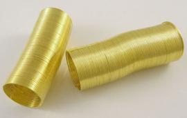 Memory Wire voor ringen goudkleurig 40 wendingen 22mm