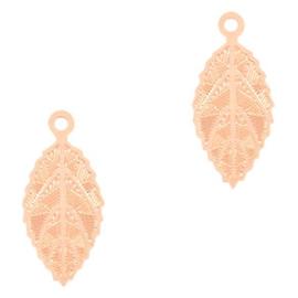 2x Hangers bohemian blaadje Rose Gold