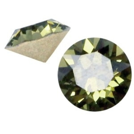 2 x Swarovski Elements SS24 puntsteen (5.2mm) Khaki green