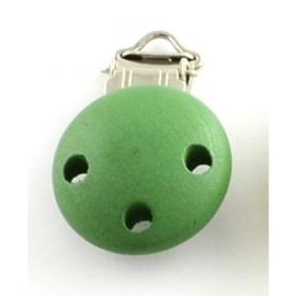 Groene speenclip voor het maken van een speenkoord.