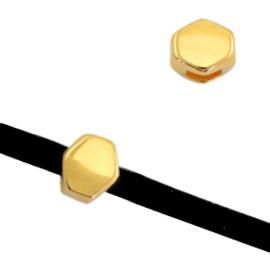 2 x Schuivers DQ metaal prisma Ø3mm Goud