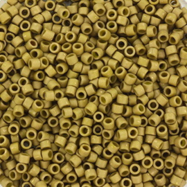 5 gram Miyuki delica's 11/0 - opaque matte luster golden olive 371