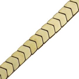 5 x Hematite kralen arrow Antique gold ca 6×5 mm