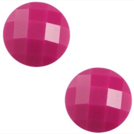 2 x Basic cabochon 10mm Fuchsia