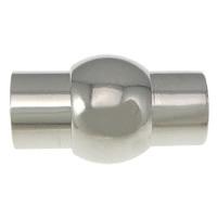 Messing magneet slotje platininum 16 x 10mm Ø6mm