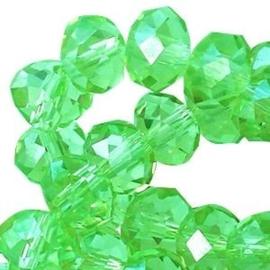 15 x Topfacet 8x6 mm Deep Chrysolite Green
