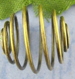 20 stuks mooie geel koper kleur spiraal kralen 18 x 17 mm