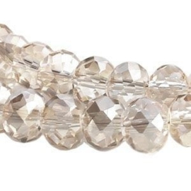 15 x Topfacet 8x6 mm Champagne Chrystal