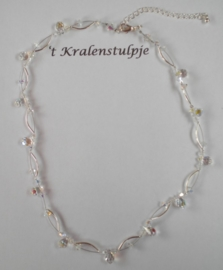 Schitterende ketting van Swarovski kristal H lengte ca 43 cm + een verlengketting