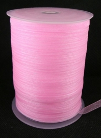 1 meter organza lint 6mm light pink