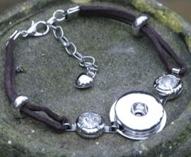 Schitterende armband voor drukkers drukknopen met kristal strass
