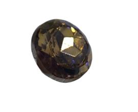 2x Precosia punt Kristal Licht Bruin 8 mm
