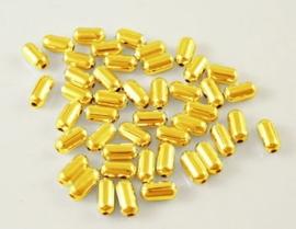 50 stuks leuke metalen tussenzetsel kralen 4,8 x 2,4mm Gat: 0,5mm goud