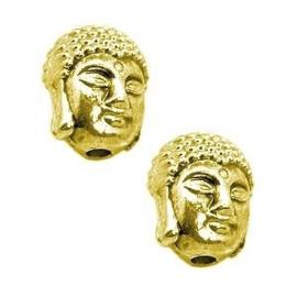 2 x Metalen Kraal Buddha 11x9x8 mm Goudkleur Ø1.5 mm