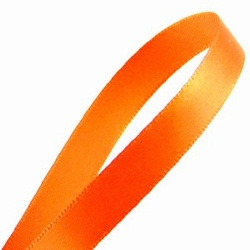 1 meterLuxe satijn lint Oranje 10 mm