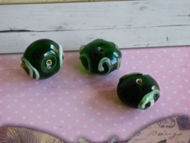 5 x High Quality Glass Hand Made Bead 166  afm. ca. 11 x 17mm