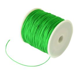 1 rol 90 meter gevlochten nylon koord, imitatie zijden draad 0,8mm green