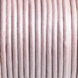 50 cm  DQ Leer rond 2 mm oud roze