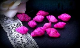 10 Stuks kunststof schelp kraal roze