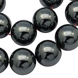 10 x Hematiet niet magnetisch  8 mm