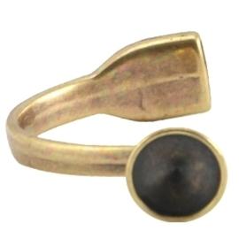 DQ metaal armband voor12mm puntsteen geel koper kleur (nikkelvrij)