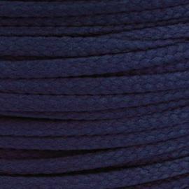 1 meter sieradenkoord c.a. 5 x 3 mm kleur Total Eclipse