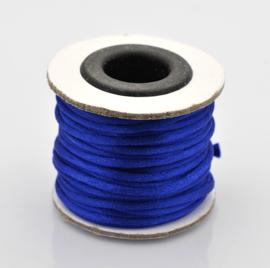 Rol met 10 meter satijn koord Nylon Marcramé koord 2mm kleur Blue