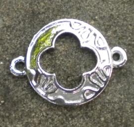 2 x Tibetaans zilveren tussenzetsel afm. 20x27mm
