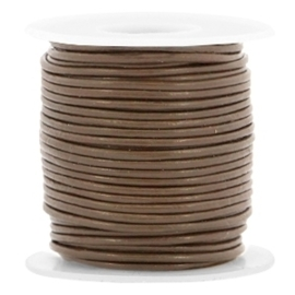 20 cm  DQ leer rond 1 mm Dark brown