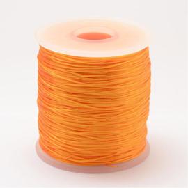 5 meter rond elastisch draad 0,2mm orange