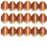 20 stuks prachtige cateye kralen 6mm oranje