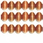 10 stuks prachtige cateye kralen 8mm licht oranje