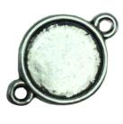 2x DQ Tibetaans Zilveren cabochon houder Y tussenzetsel binnenzijde: 10 mm
