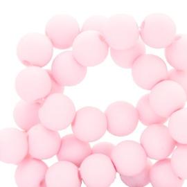50 x 4 mm acryl kralen matt Light pink